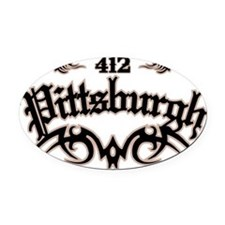 Pittsburgh 412 Oval Car Magnet