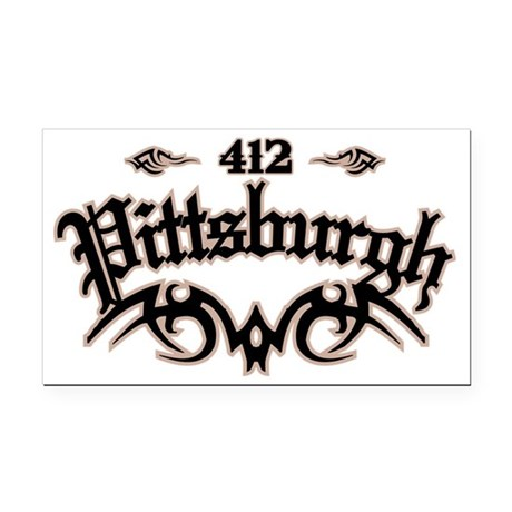 Pittsburgh 412 Rectangle Car Magnet