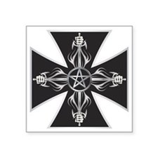 "Maltese Cross Square Sticker 3"" x 3"""