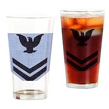 NAVY-Rank-PO2-Dungaree Drinking Glass