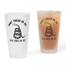 DTOM Black Drinking Glass