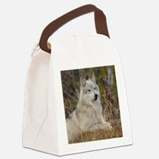 Wolf 10x10 Canvas Lunch Bag