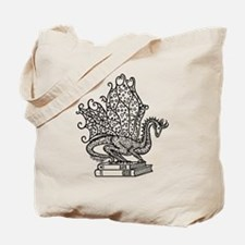 dragon-bks_black Tote Bag