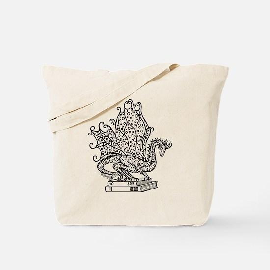 dragon-bks_black Tote Bag
