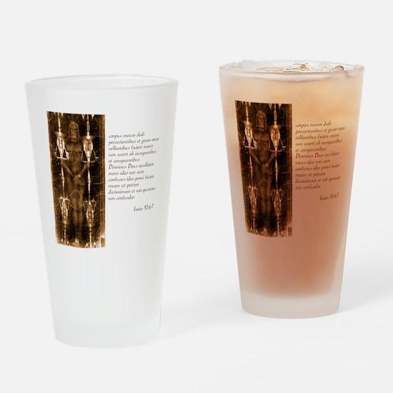Isaiah 50-6-7 - Latin Drinking Glass