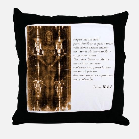 Isaiah 50-6-7 - Latin Throw Pillow