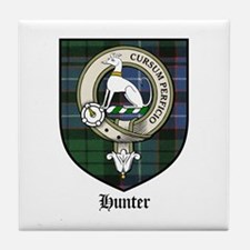 Hunter Clan Crest Tartan Tile Coaster