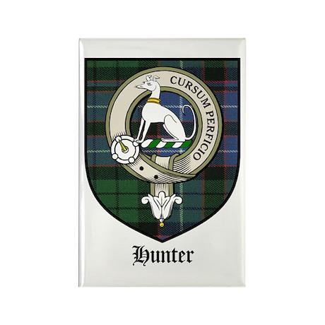 Hunter Clan Crest Tartan Rectangle Magnet (10 pack