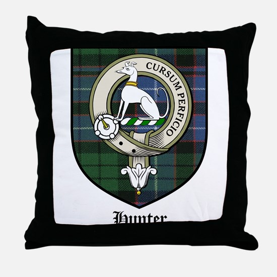 Hunter Clan Crest Tartan Throw Pillow