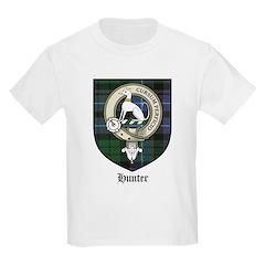 Hunter Clan Crest Tartan Kids T-Shirt