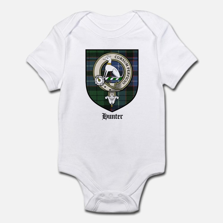 Hunter Clan Crest Tartan Infant Bodysuit