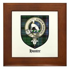 Hunter Clan Crest Tartan Framed Tile