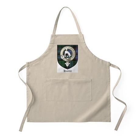 Hunter Clan Crest Tartan BBQ Apron