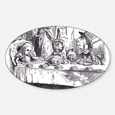 Mad Tea-Party Oval Decal