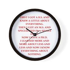 PHD.png Wall Clock