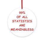 STATISITCS Ornament (Round)