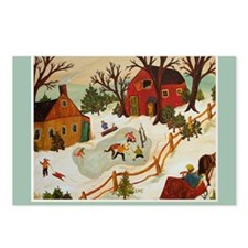 Happy Holidays Artistic I Postcards (Package of 8)