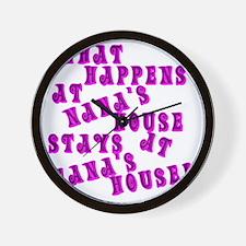 Loud PinkNanasHouse Wall Clock