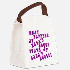Loud PinkNanasHouse Canvas Lunch Bag