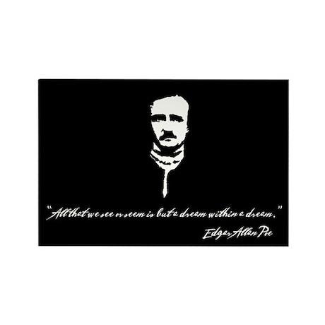 Edgar Allan Poe Rectangle Magnet (10 pack)