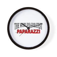 """""""The World's Greatest Paparazzi"""" Wall Clock"""