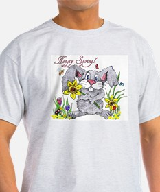 Hoppy Spring Ash Grey T-Shirt