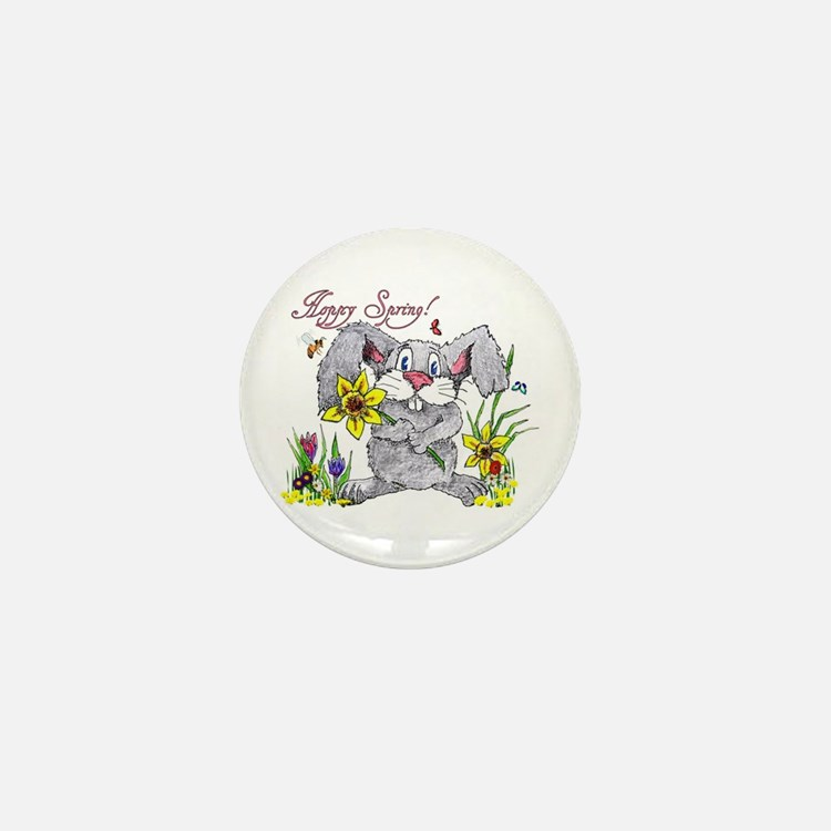 Hoppy Spring Mini Button