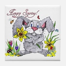 Hoppy Spring Tile Coaster