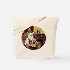 (R) Santa - Silky Terriers (TWO) Tote Bag