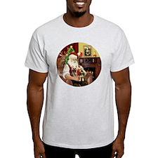 (R) Santa - Silky Terriers (TWO) T-Shirt