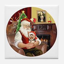 (R) - Santas Yorkshire Terrier #17 Tile Coaster