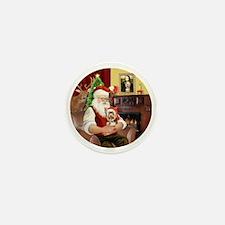 (R) - Santas Yorkshire Terrier #17 Mini Button