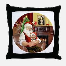 (R) - Santas Yorkshire Terrier #17 Throw Pillow