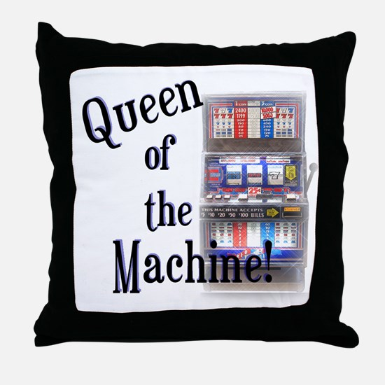 Queen of The Machine Throw Pillow