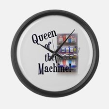 Queen of The Machine Large Wall Clock