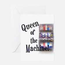 Queen of The Machine Greeting Cards