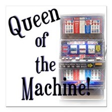 """Queen of The Machine Square Car Magnet 3"""" x 3"""""""