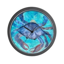 Blue Crab Blanket Wall Clock