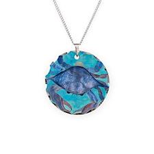 Blue Crab Blanket Necklace