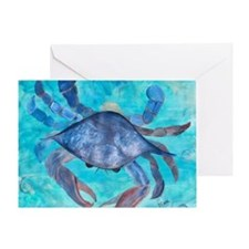 Blue Crab Blanket Greeting Card