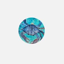 Blue Crab Blanket Mini Button