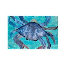 Blue Crab Blanket Rectangle Magnet