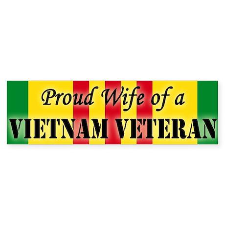 Vietnam Vet Wife Bumper Sticker