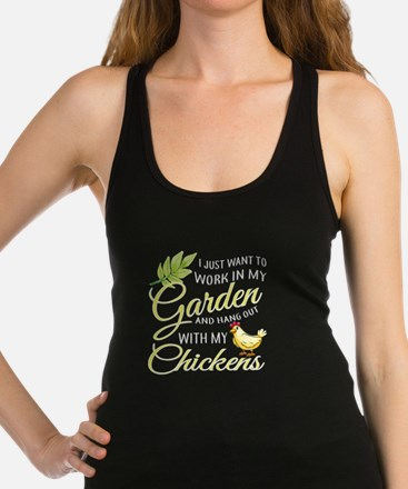 Hang Out With Chickens In My Garden T Shi Tank Top