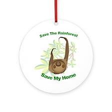 SaveSloth Round Ornament