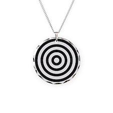 bullseye Necklace Circle Charm