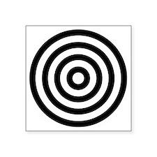 "bullseye Square Sticker 3"" x 3"""