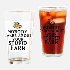 Cow LgBtn Drinking Glass