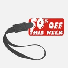 50% week Luggage Tag
