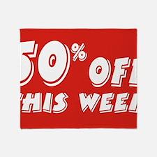 50% week Throw Blanket